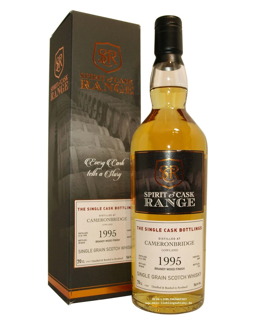 Spirit & Cask Range Cameronbridge 1995 Brandy Finish 56,0% vol. 0,7 Liter