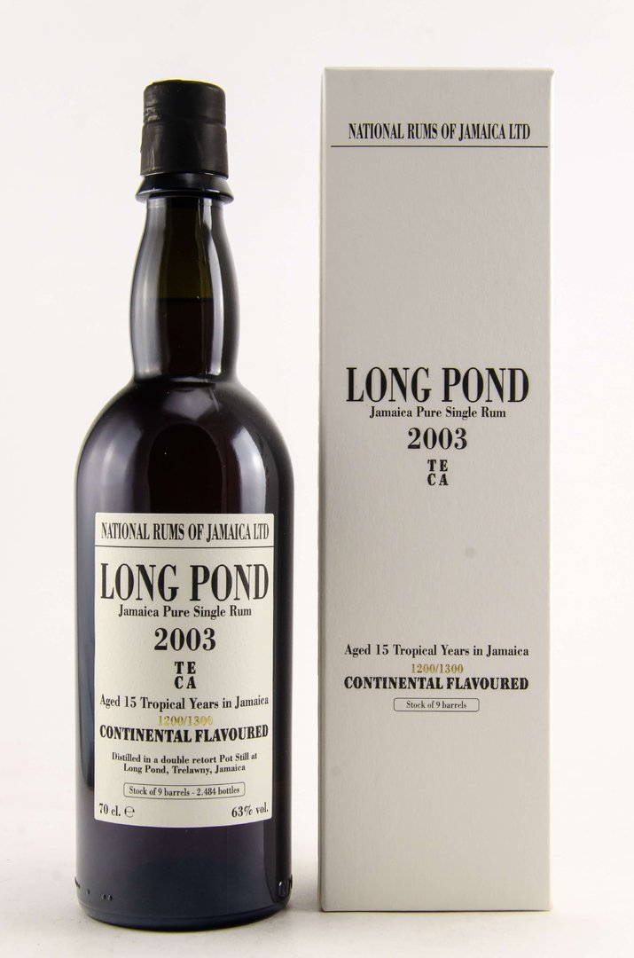 Long Pond 2003/2018 National Rums of Jamaica 63,0% vol. - 0,7 Liter