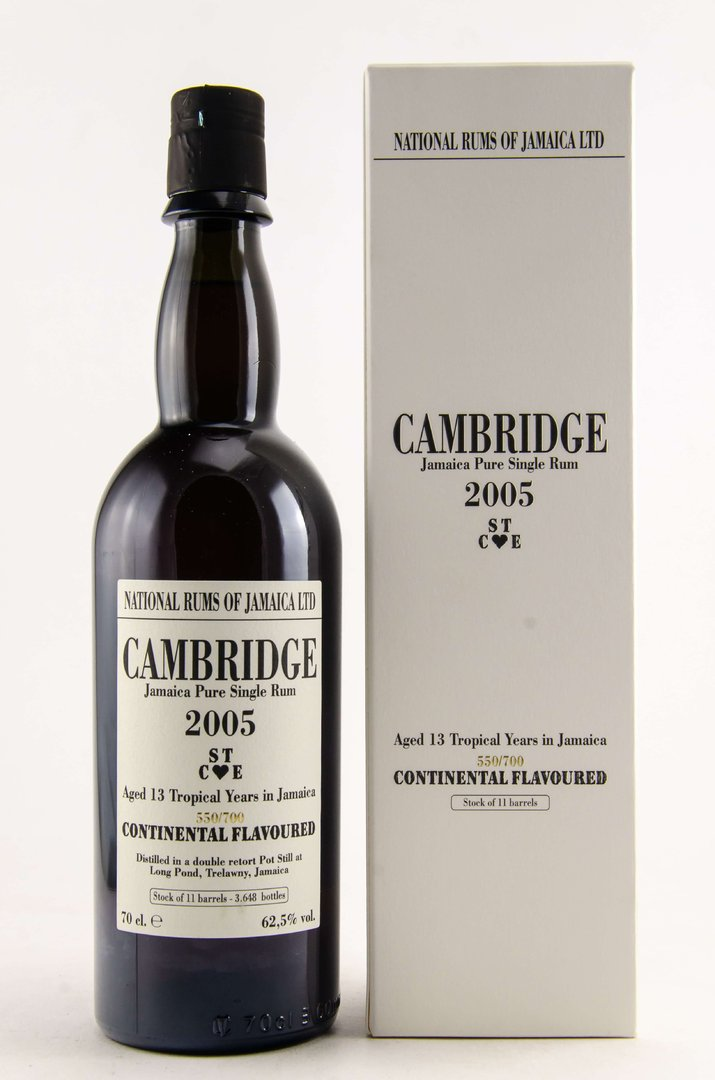 Camebridge 2005/2018 National Rums of Jamaica 62,5% vol. - 0,7 Liter
