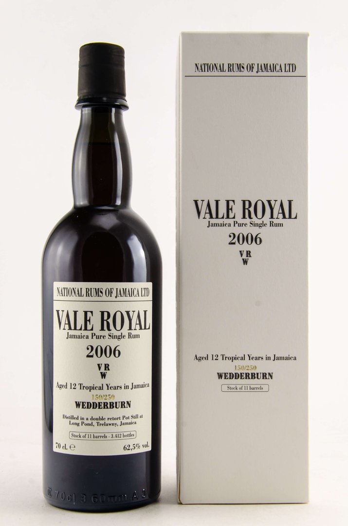 Vale Royal 2006/2018 National Rums of Jamaica 62,5% vol. - 0,7 Liter