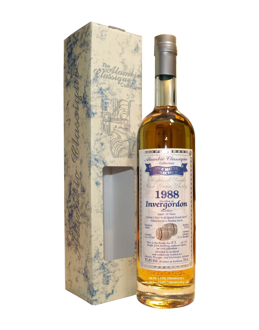 Alambic Classique Invergordon 1988 Single Grain 57,8% vol. 0,7 Liter