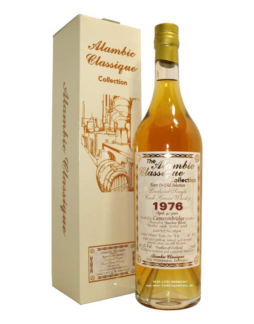 Alambic Classique Cameronbridge 1976 Single Grain 47,3% 0,7 Liter