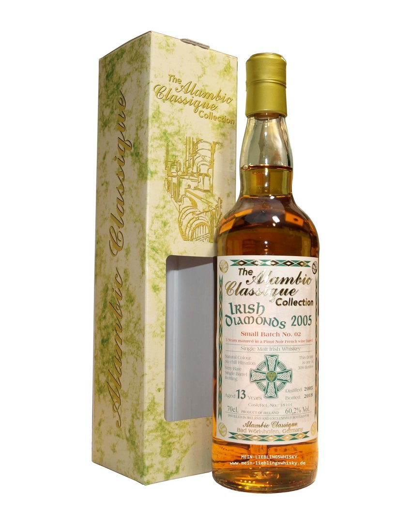 Irish Diamonds Batch #2 Single Malt Whiskey 60,2% vol. - 0,7 Liter