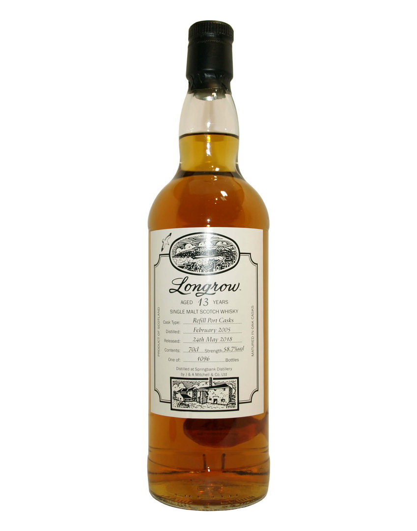 Longrow 13 Jahre Single Malt Whisky 58,7% vol. - 0,7 Liter