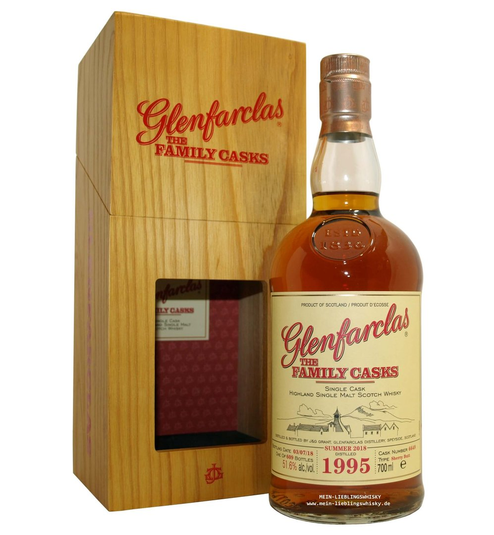 Glenfarclas Family Casks 1995/2018 / S18 - 51,6% vol. 0,7 Liter