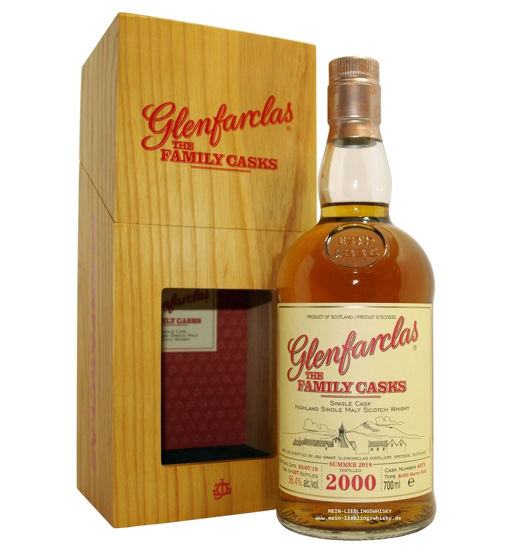 Glenfarclas Family Casks 2000/2018 / S18 - 56,4% vol. 0,7 Liter