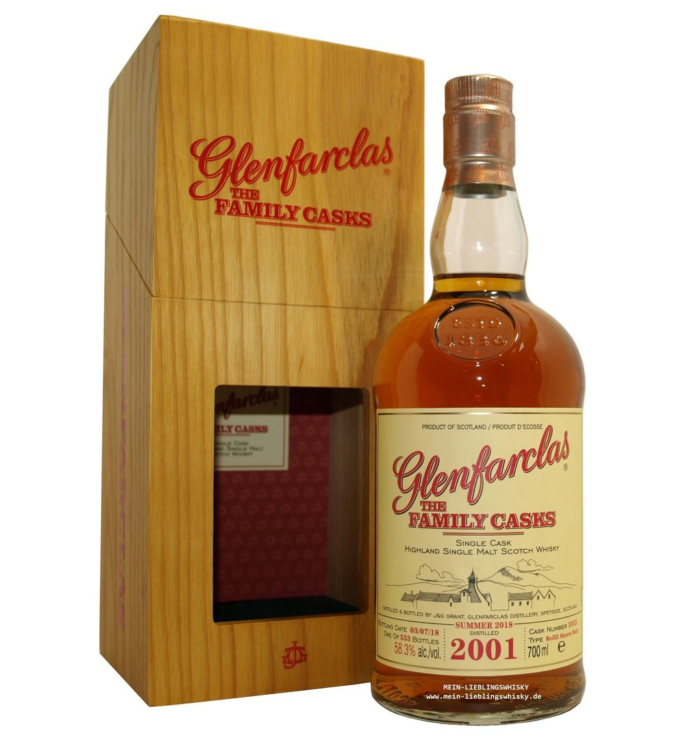 Glenfarclas Family Casks 2001/2018 / S18 - 58,3% vol. 0,7 Liter
