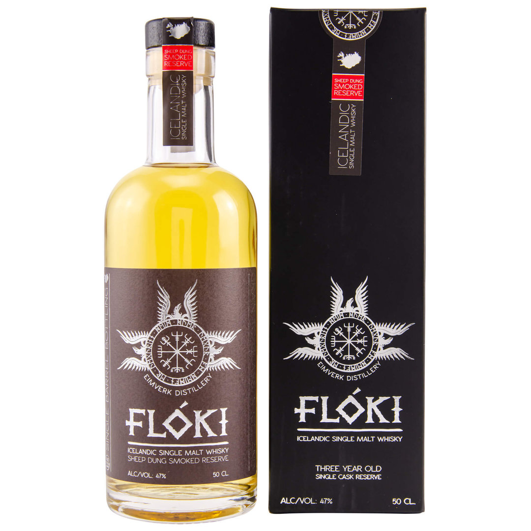 Floki Single Malt Whisky - Sheep Dung Smoked Reserve 0,5 Liter