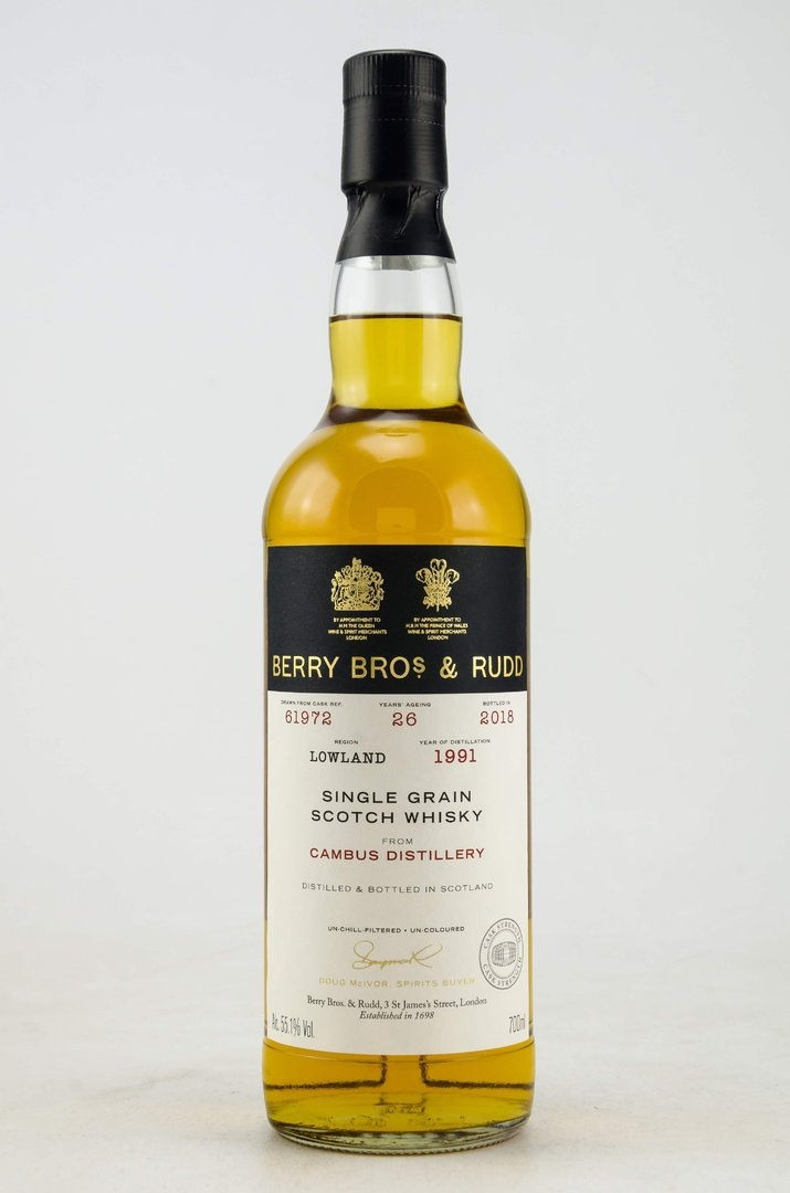 Cambus 1991/2018 Single Grain Whisky 55,1% vol. 0,7 Liter