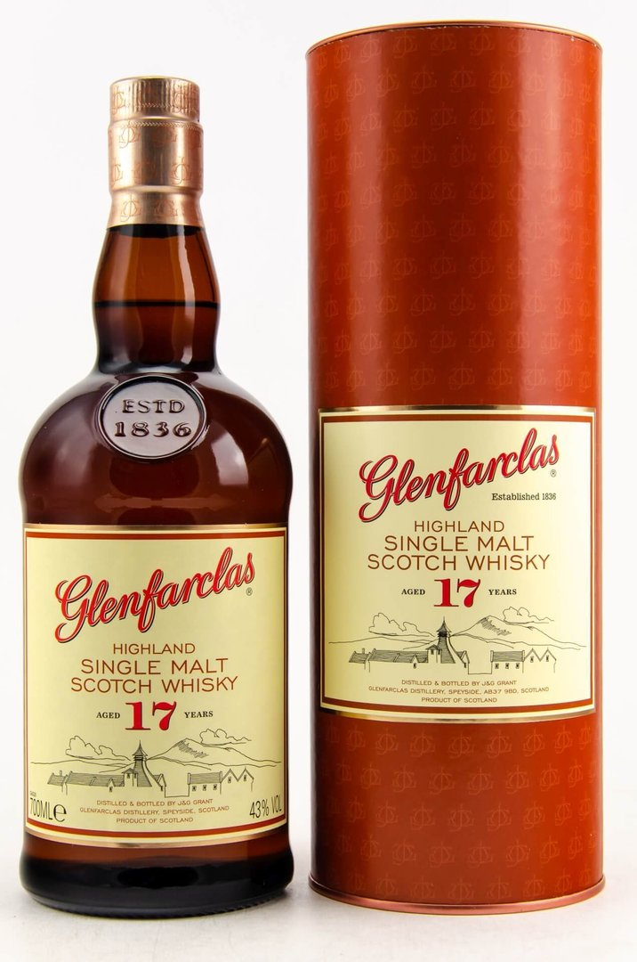 Glenfarclas 17 Jahre Single Malt Whisky 43,0% vol. - 0,7 Liter