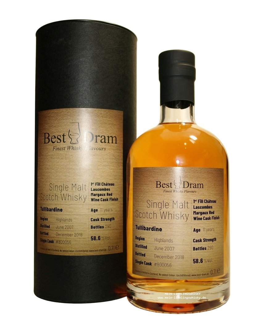 Tullibardine 11 Jahre 1st Fill Châteu Lascombes Margaux Red Wine Cask 58,6% vol. 0,7 Liter