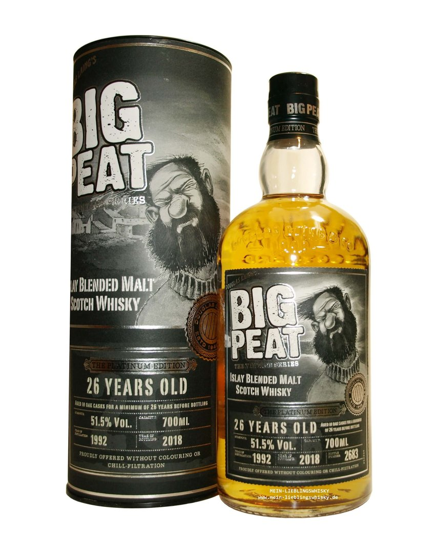 Big Peat 26 Jahre 1992/2018 Platinum Edition 51,5% vol. 0,7 Liter