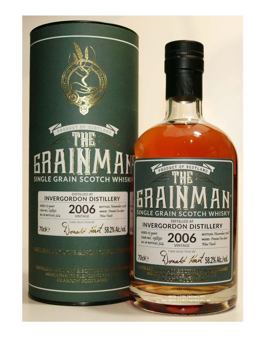 The Grainman Invergordon 12 Jahre Single Grain 58,2% vol. - 0,7 Liter