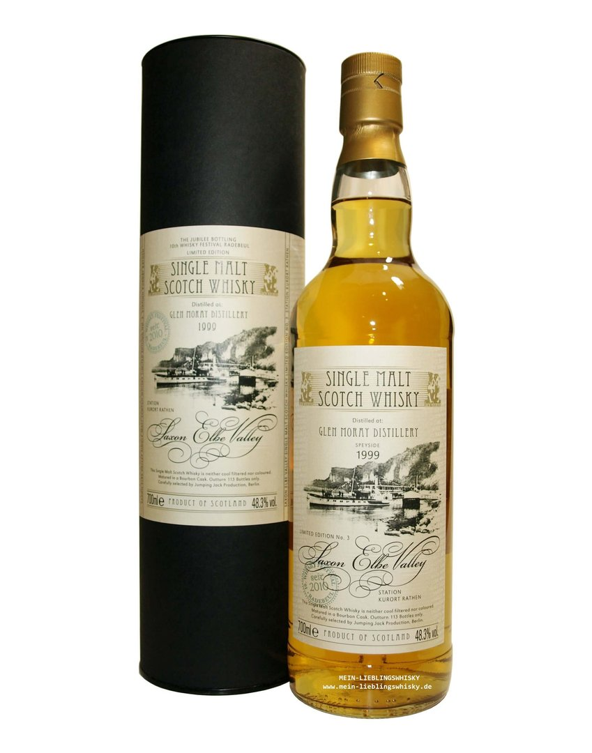 Jack Wiebers Saxon Elbe Valley Glen Moray 1999 - 48,3% vol. 0,7 Liter