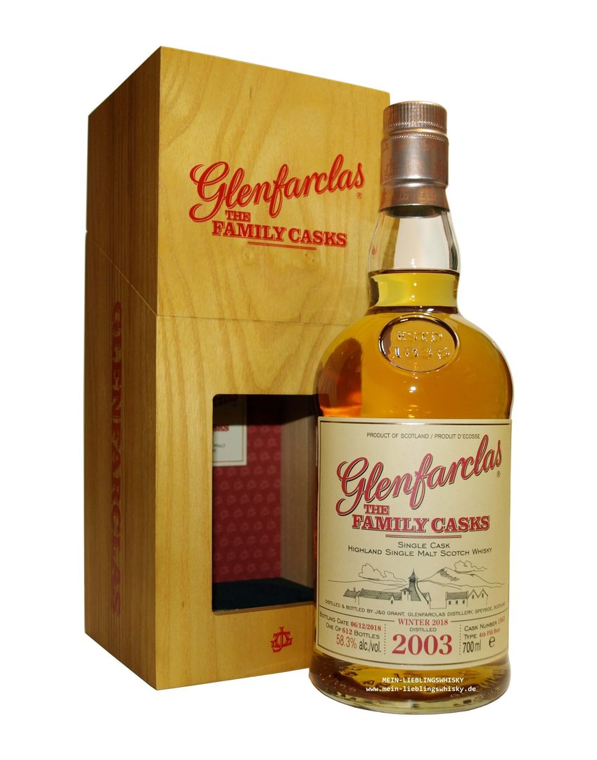 Glenfarclas Family Casks 2003/2018 / W18 - 58,3% vol. 0,7 Liter