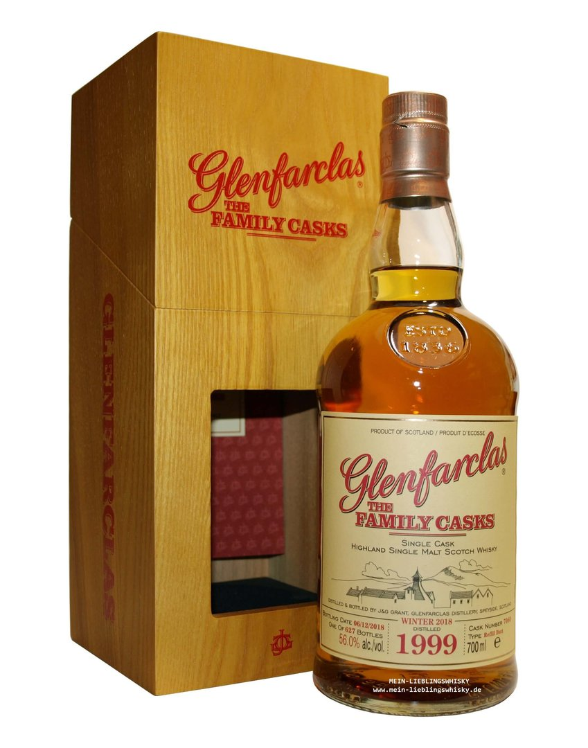 Glenfarclas Family Casks 1999/2018 / W18 - 56,0% vol. 0,7 Liter