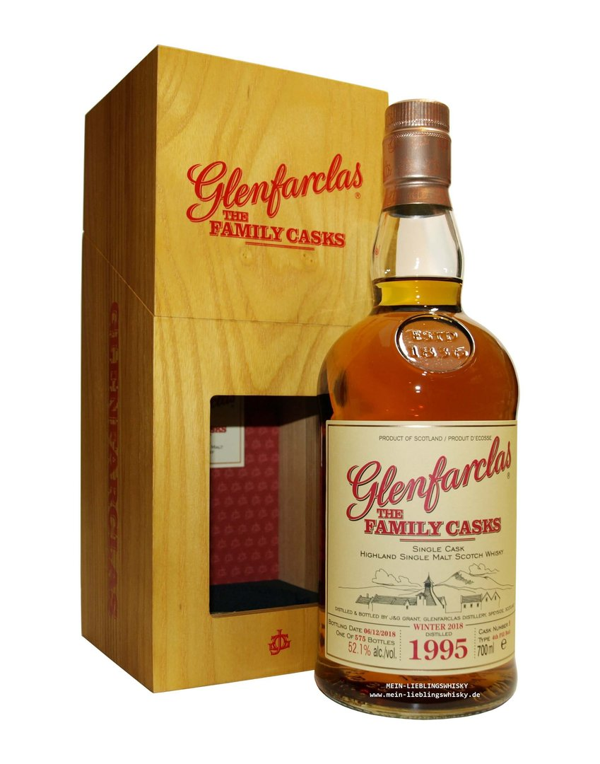 Glenfarclas Family Casks 1995/2018 / W18 - 52,1% vol. 0,7 Liter