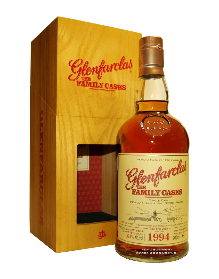 Glenfarclas Family Casks 1994/2018 / W18 - 56,1% vol. 0,7 Liter