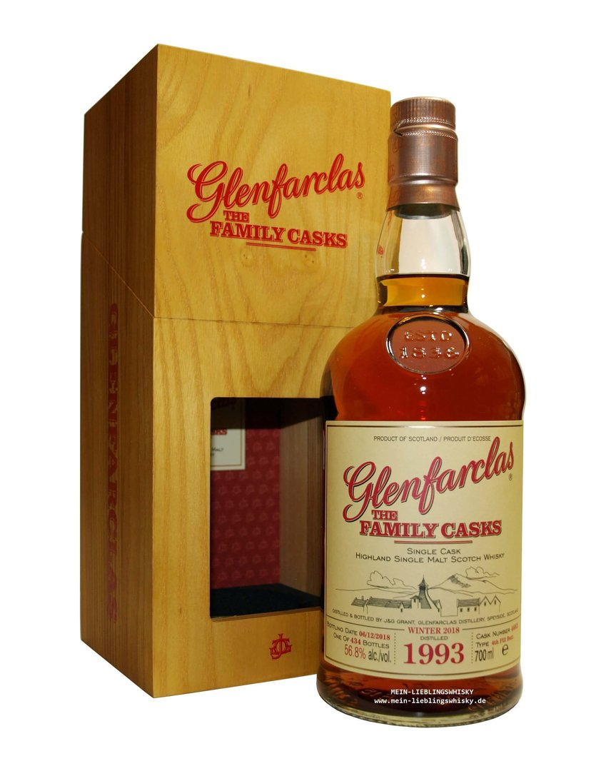 Glenfarclas Family Casks 1993/2018 / W18 - 56,8% vol. 0,7 Liter