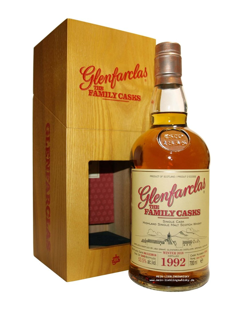 Glenfarclas Family Casks 1992/2018 / W18 - 53,5% vol. 0,7 Liter