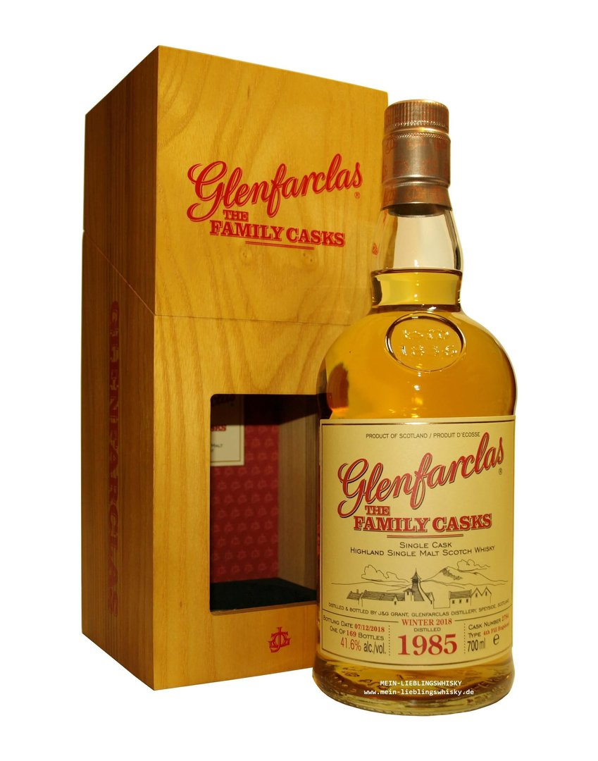 Glenfarclas Family Casks 1985/2018 / W18 - 41,6% vol. 0,7 Liter