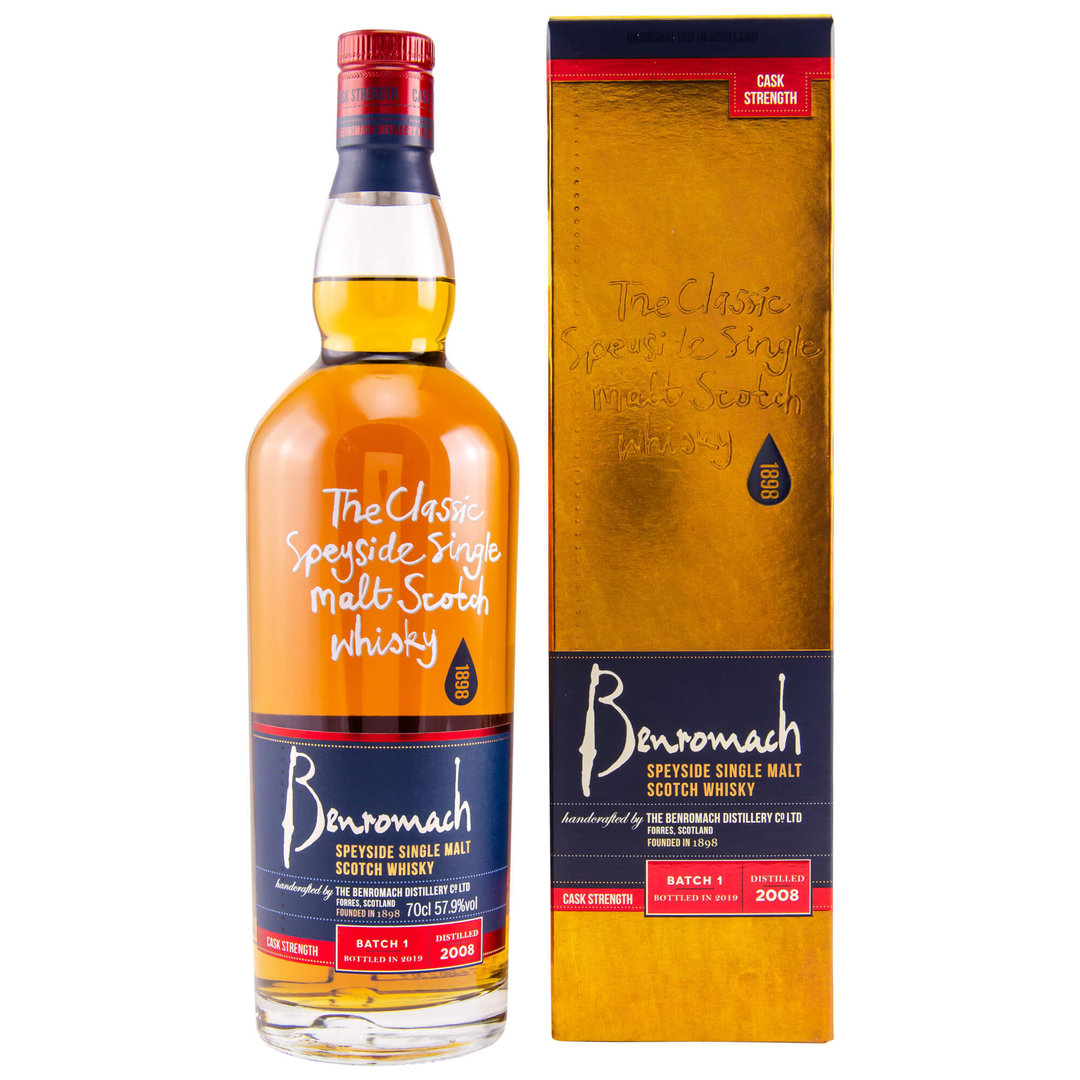 Benromach Cask Strength 2008/2019 Batch 1 - 57,9% vol. 0,7 Liter