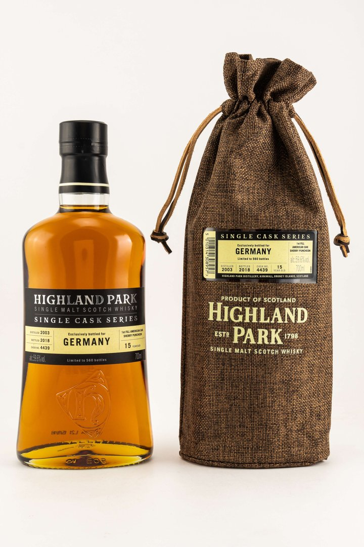 Highland Park 2003/2018 Single Cask Bottled for Germany 59,6% vol. 0,7 Liter