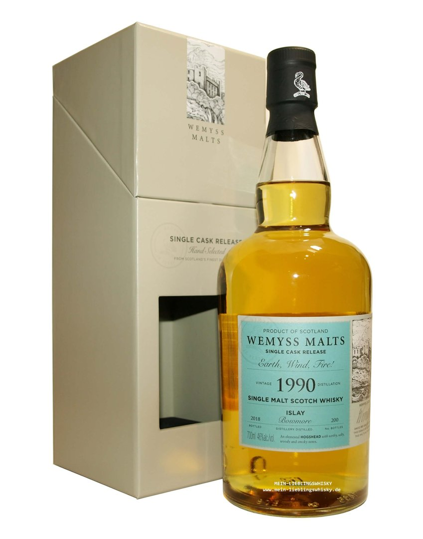 "Wemyss Bowmore ""Earth, Wind, Fire!"" 46,0% vol. - 0,7 Liter"