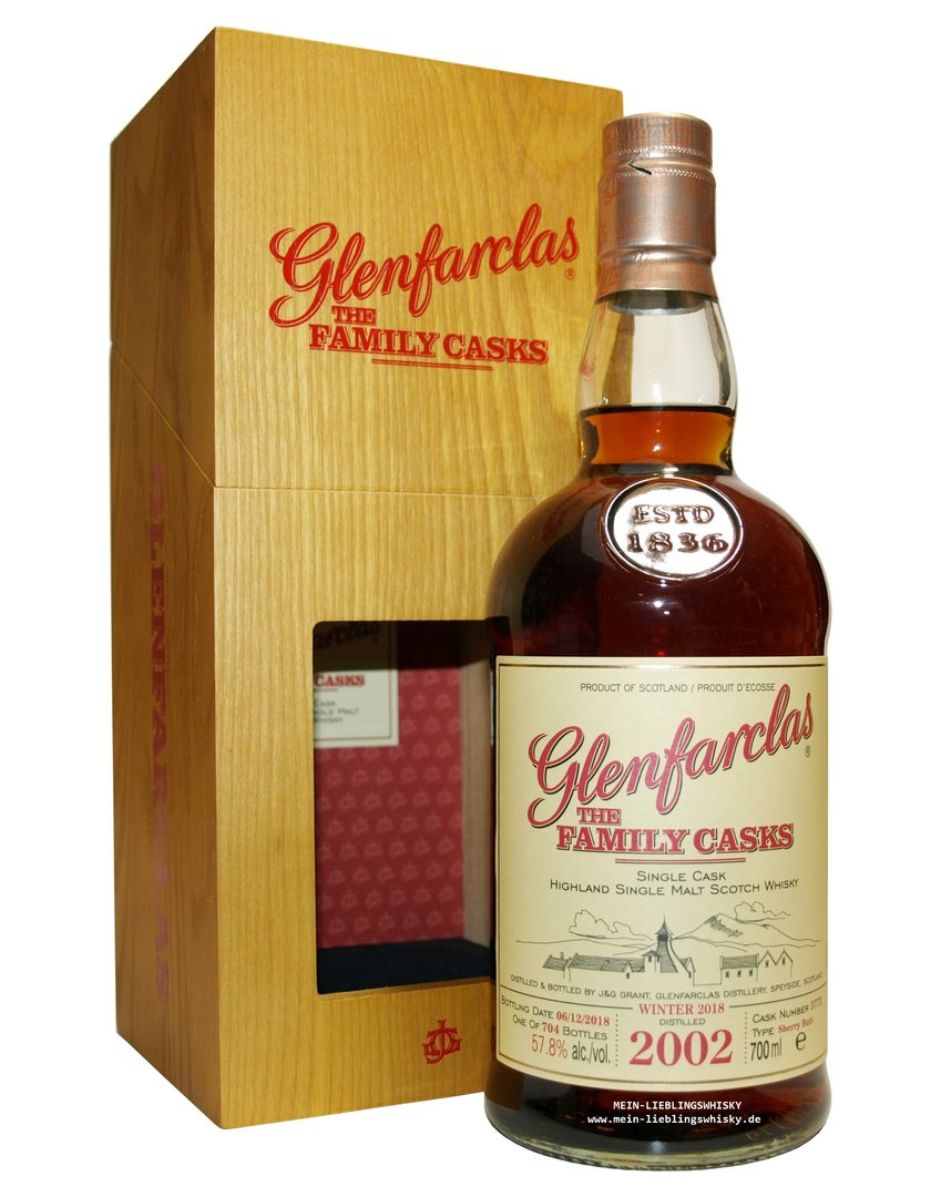 Glenfarclas Family Casks 2002/2018 / W18 - 57,8% vol. 0,7 Liter