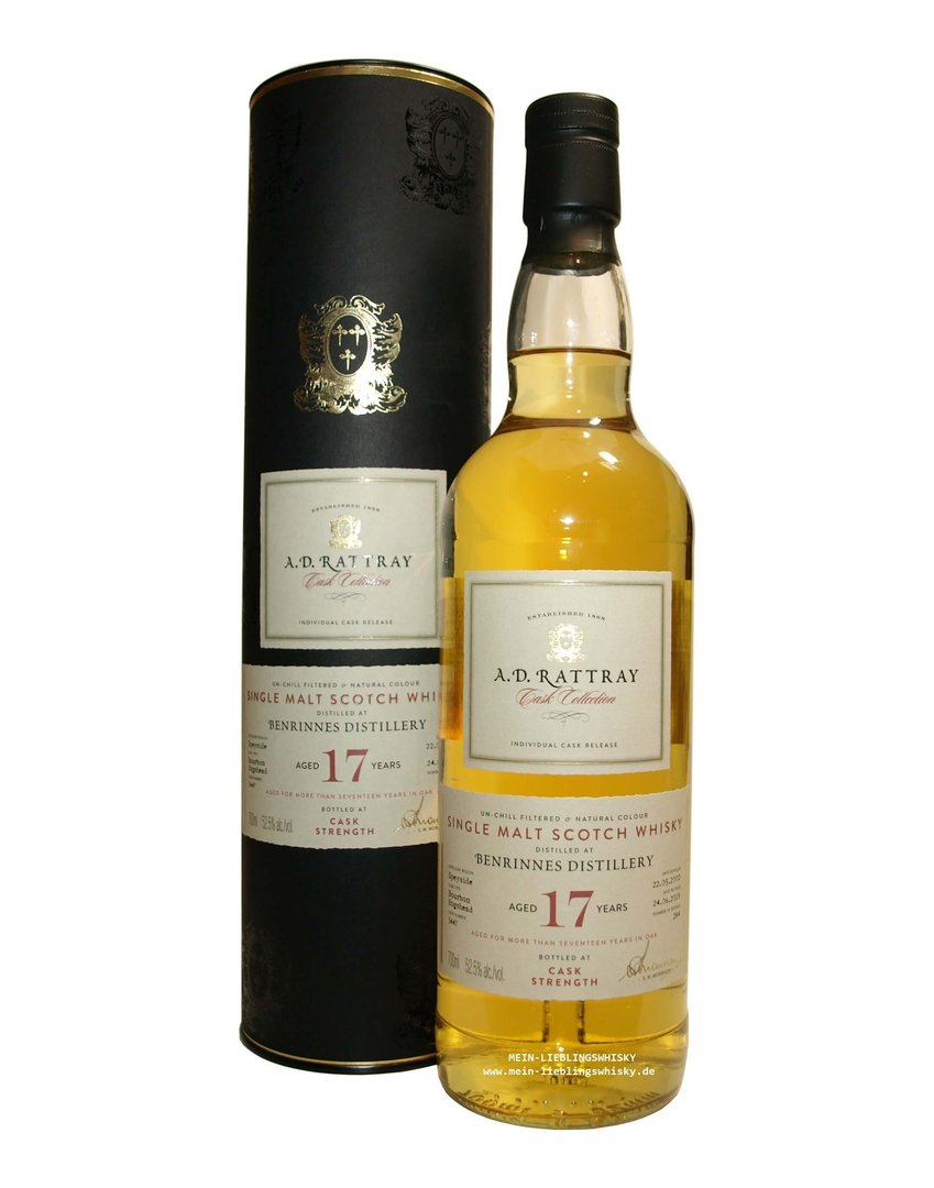 A.D. RATTRAY Benrinnes 17 Jahre Single Malt 52,5% vol. 0,7 Liter