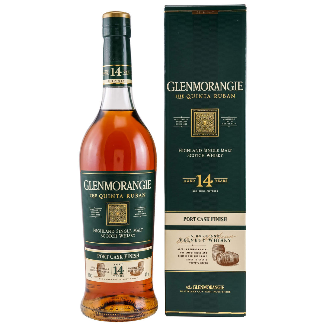 Glenmorangie Quinta Ruban 14 Jahre Single Malt 46,0% vol. - 0,7 Liter