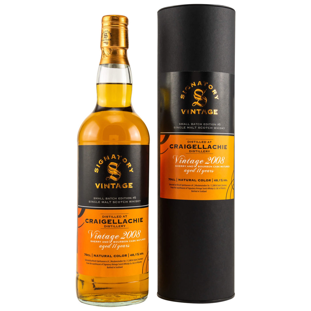 Signatory Craigellachie Small Batch #5 - 48,1% vol. - 0,7 Liter