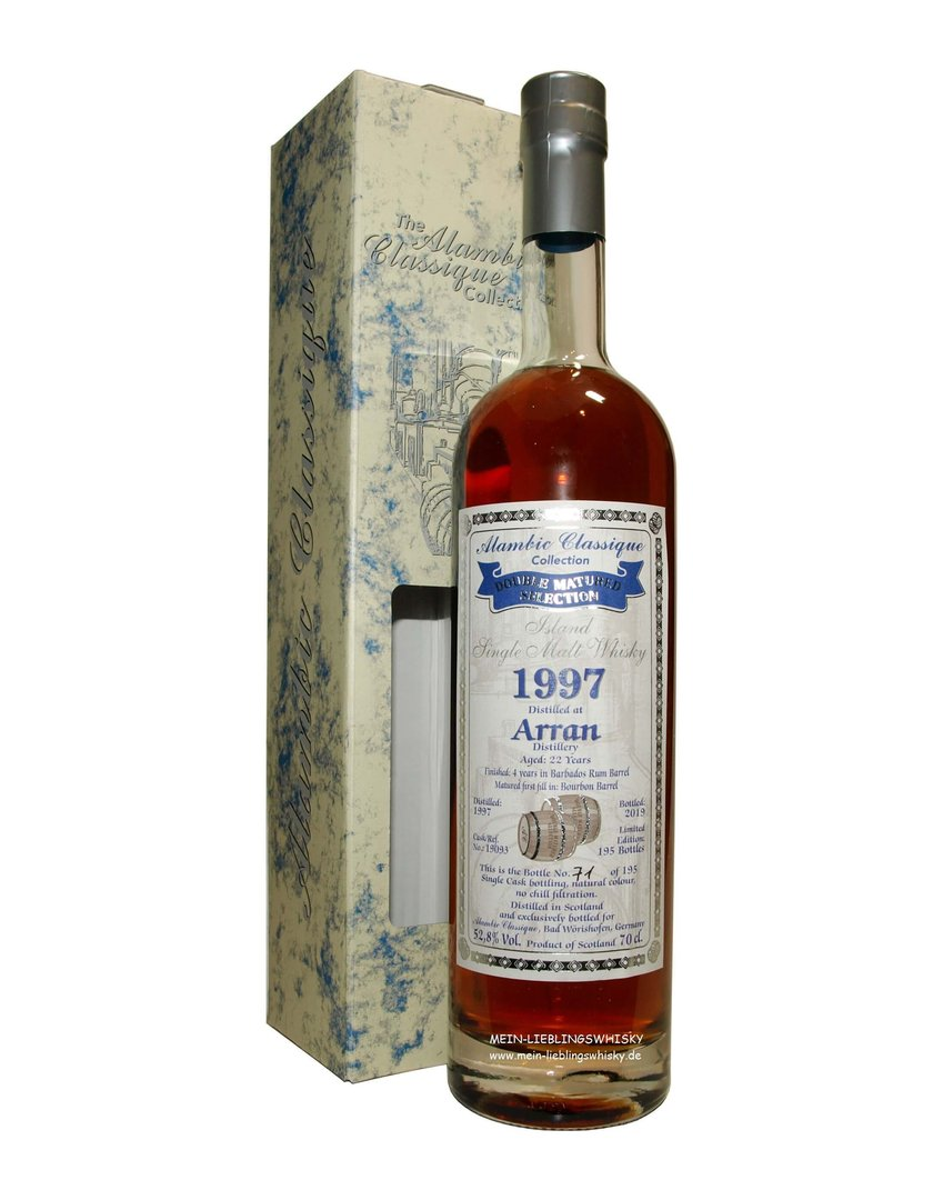 Alambic Classique Arran 22 Jahre Single Malt 52,8% vol. - 0,7 Liter