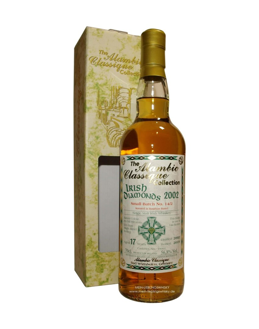 Irish Diamonds Batch #14/2 Single Malt Whiskey 56,8% vol. - 0,7 Liter