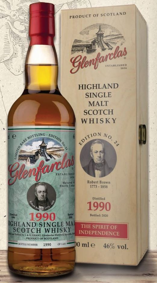 Glenfarclas Edition 24 Robert Brown 1990 - 46,0% vol. - 0,7 Liter