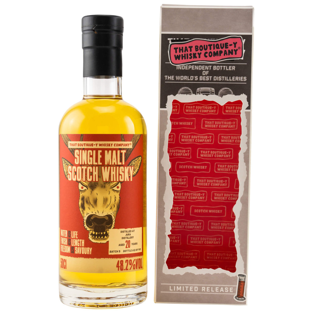 Jura 20 Jahre Boutique Whisky Company 48,2% vol. - 0,5 Liter