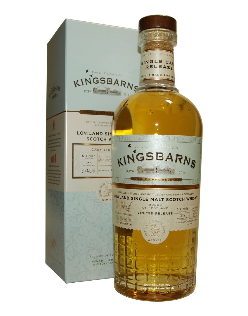 Kingsbarns Single Cask Release for Germany 61,4% vol. 0,7 Liter