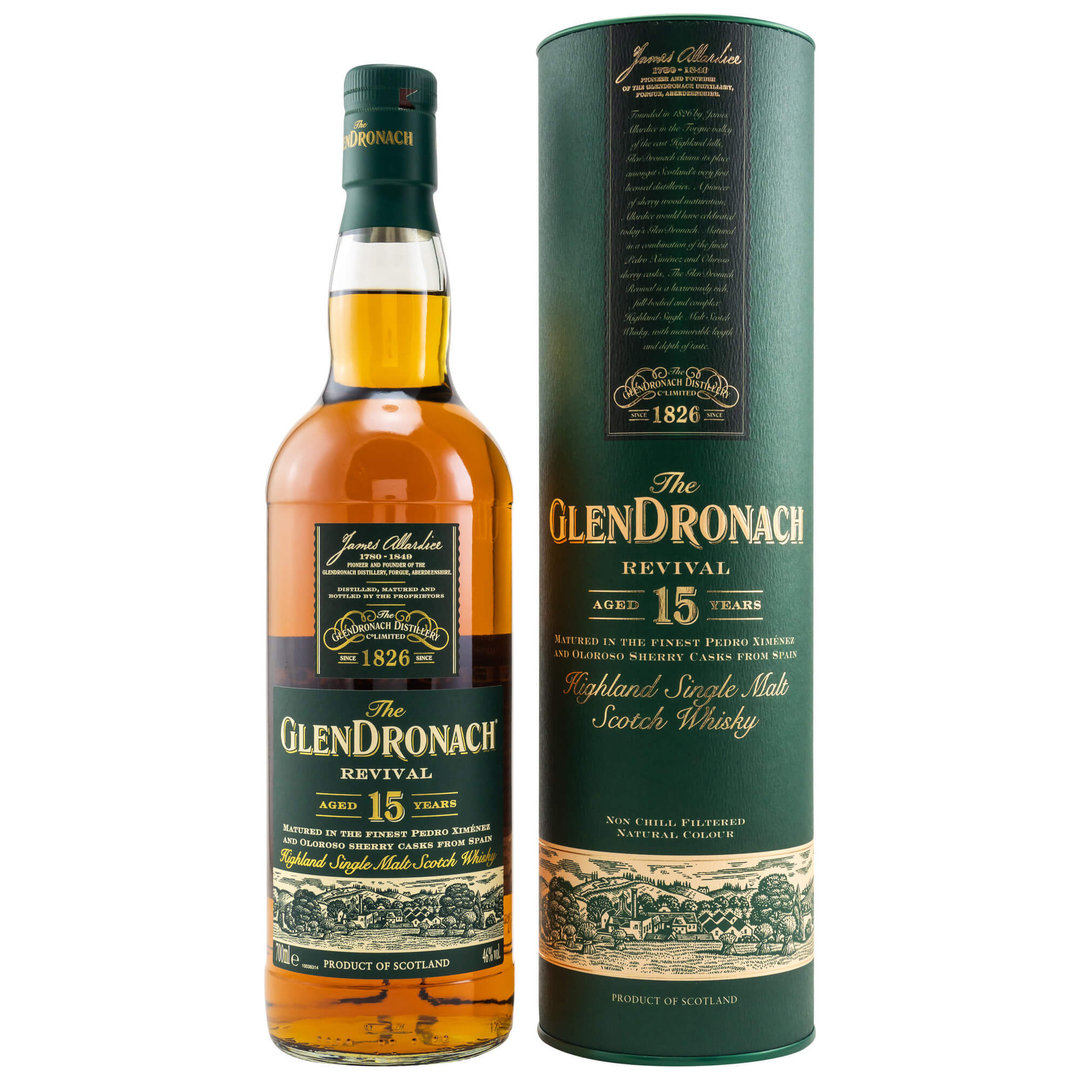 Glendronach Revival 15 Jahre Single Malt Whisky 46,0% vol. 0,7 Liter