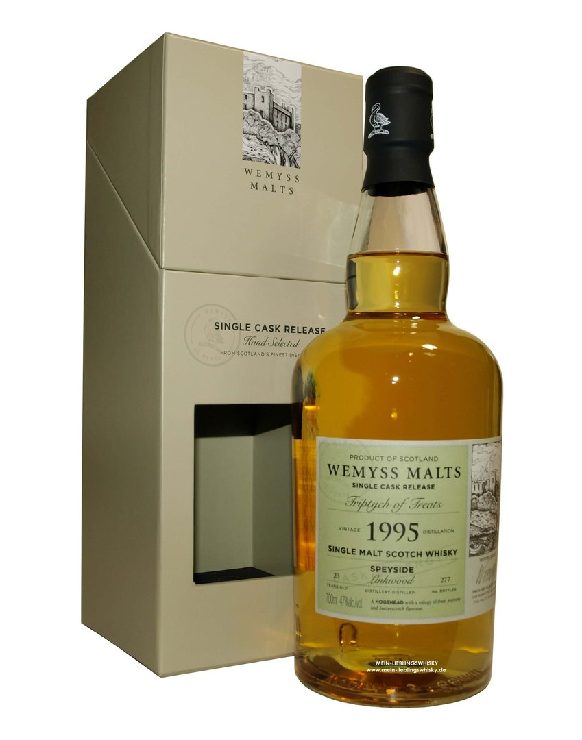 "Wemyss Linkwood ""Triptych of Treats"" 47,0% vol. - 0,7 Liter"