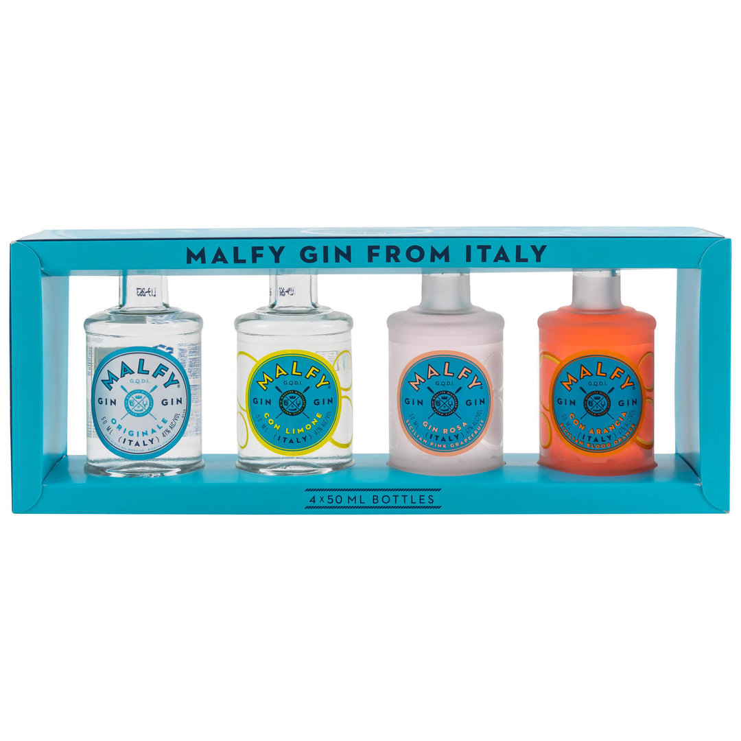 Malfy Gin Miniaturen Set 4x 0,05 Liter -  41,0% vol.
