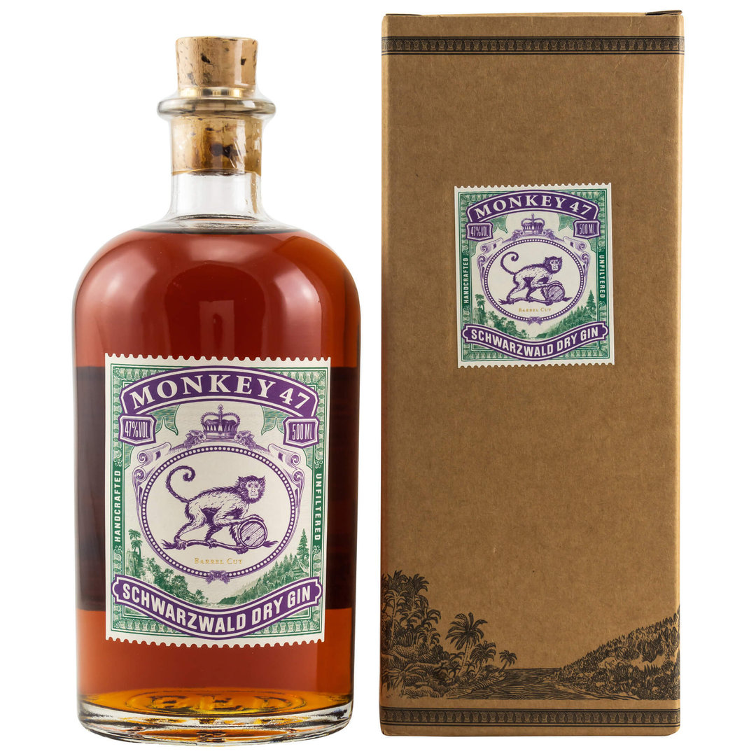 Monkey 47 Barrel Cut Gin 47,0% vol. - 0,5 Liter