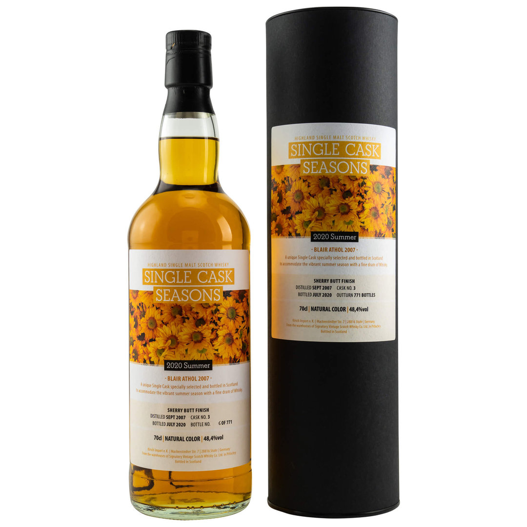 Single Cask Seasons Summer 2020 - Blair Athol 48,4% vol. - 0,7 Liter