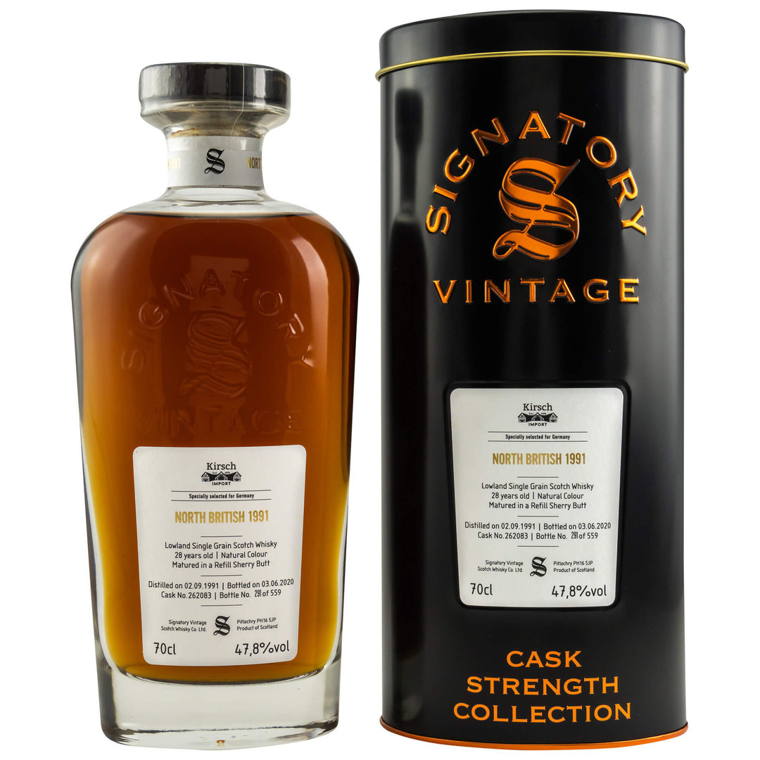 Signatory Vintage North British 1991/2020 - 47,8% vol. - 0,7 Liter