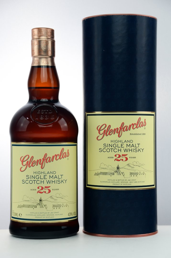 Glenfarclas 25 Jahre Single Malt Whisky 43,0% vol. - 0,7 Liter
