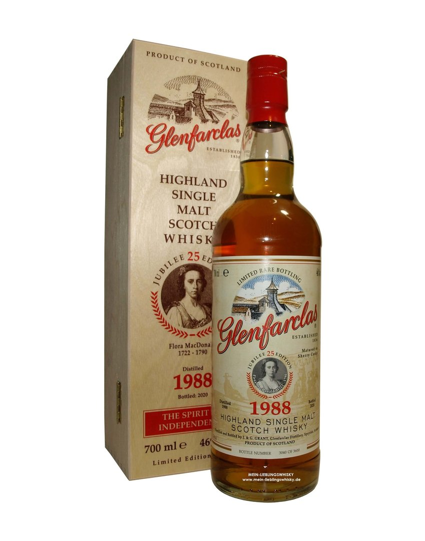 Glenfarclas Edition 25 Flora Mac Donald - 46,0% vol. - 0,7 Liter