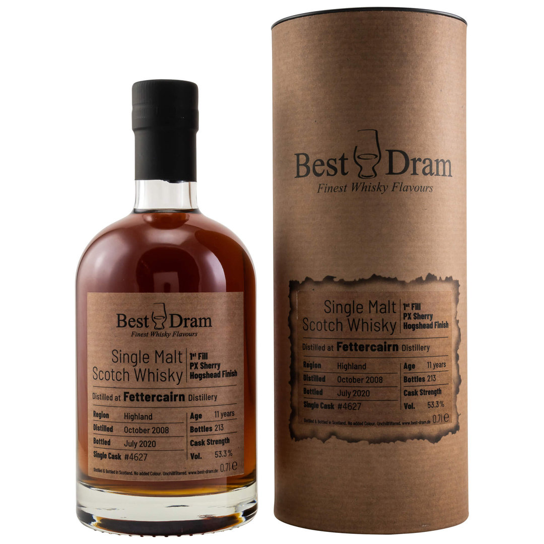 Fettercairn 11 Jahre 1st Fill PX Sherry Finish 53,3% vol. 0,7 Liter