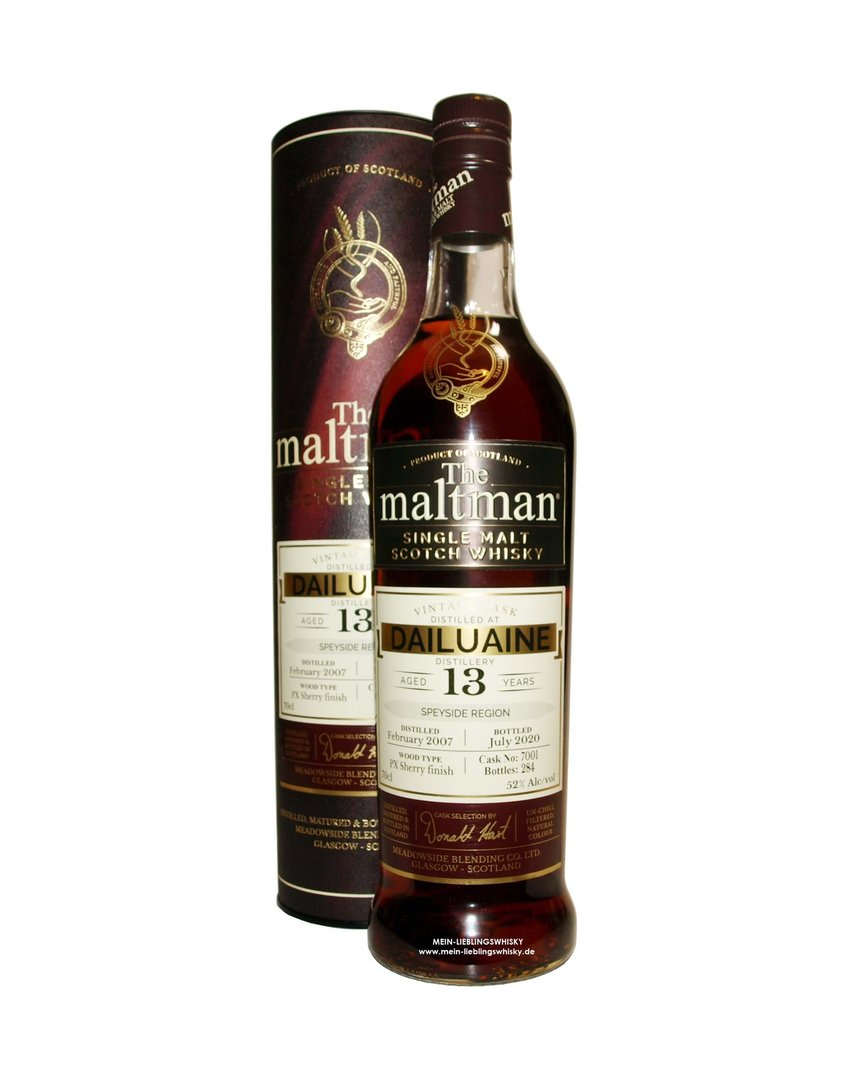 The Maltman Dailuaine 13 Jahre Single Malt 52,0% vol. 0,7 Liter