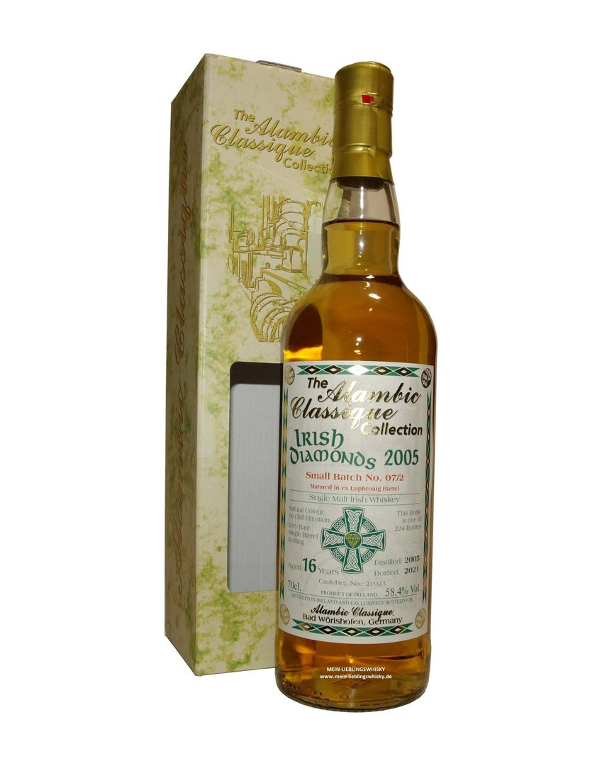 Irish Diamonds Batch #7/2 Single Malt Whiskey 58,4% vol. - 0,7 Liter