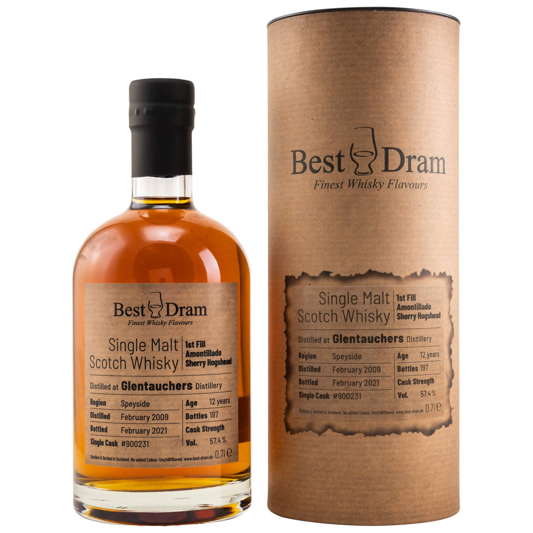 Best Dram Glentauchers 2009/2021 - 57,4% vol. 0,7 Liter