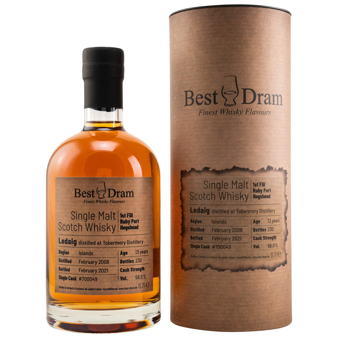 Best Dram Ledaig 2008/2021 - 58,0% vol. 0,7 Liter